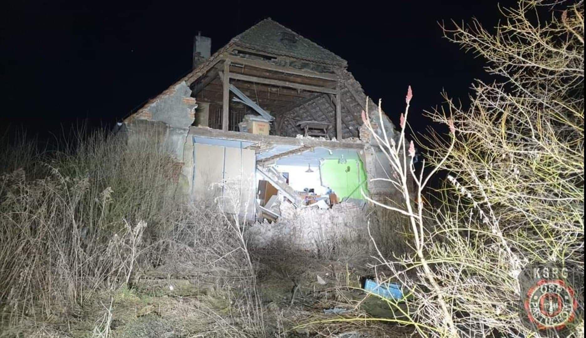 Ściana runęła, rodzina nadal bez dachu nad głową